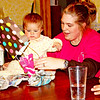 Feast Get together...we all enjoyed watching Kainsley open her gifts...this was her first feast!