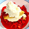 Ohhhh, I so LOVE strawberry shortcake!  We don't have it lots, but have a couple times this year cause of all the strawberries we've gotten.  Usually we just eat them plain, or I make fruit leather...but I couldn't resist some shortcake this year!  :-))