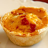 Mini quiche's...made some so they could be eaten on the go...yummy!