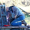 Kirk doing some welding while he was here