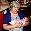 Great-Granddaughter - Mom holding her great-granddaughter!