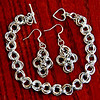 More Chain Maille - My 2nd project....I need to get some other colors of jump rings, so I can have some accents on there I think, but kinda fun....when my hands don't spaze out and drop the rings, or my eyes work.  :-))<br /> <br /> Not the best work, but...hopefully better jump rings that have ends that join better will make for a prettier end result...when I manage to order better ones that is.