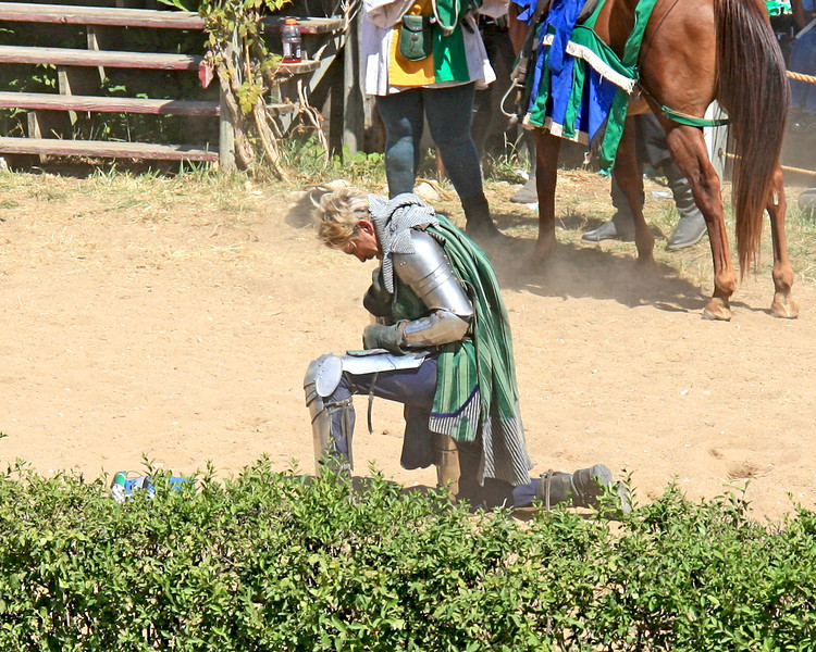 He fell off his horse...booo!  At the KC renfest.