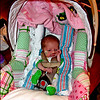 Tiny Tot - Kainsley in her car seat...she REALLY looks tiny, when she is in there!