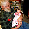 Great-Granddaughter - Dad, holding his great-granddaughter!
