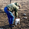 "Dad and one of his ""Kids"" - Dad's goats are kidding now, so I had to go visit and see some of that cuteness.  LOVE baby goats, they are just TO CUTE!!  :-))"