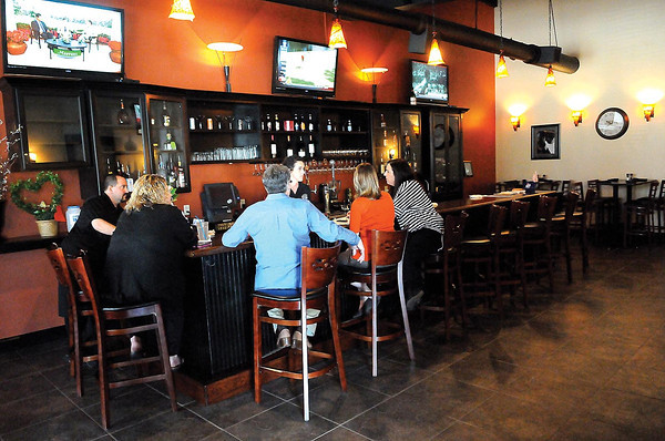F. BRIAN FERGUSON/THE REGISTER-HERALD=The bar area of the Dish Cafe on Ritter Drive in Daniels.