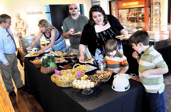 F. BRIAN FERGUSON/THE REGISTER-HERALD=It was Family Night at the Beckley Exhibition Coal Mine during Thursday evening's Business After Hours event.