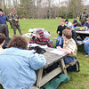 Robert Cook, major Civil Air Patrol, goes over materials for incident management during the Boy Scout Spring Campboree at Little Beaver State Park.<br /> Rick Barbero/The Register-Herald