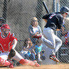 F. BRIAN FERGUSON/THE REGISTER-HERALD= Liberty's #2 jumps out of the way of a wild pitch as they took on Independence on Thursday evening in Coal City.