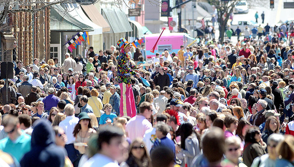 F. BRIAN FERGUSON/THE REGISTER-HERALD=A large audience gathered for the 7th Annual Chocolate Festival.