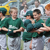 Millers baseball team at Beckley Little League line up for opening ceremomies.<br /> Rick Barbero/The Register-Herald