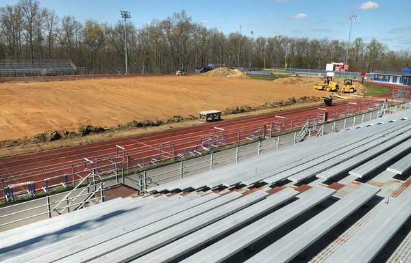 Independence High School football field under construction.<br /> Rick Barbero/The Register-Herald