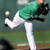 F. BRIAN FERGUSON/THE REGISTER-HERALD=Marshall pitcher #13 delievers  against Ohio University during Wednesday evening action at Linda K. Epling Stadium.