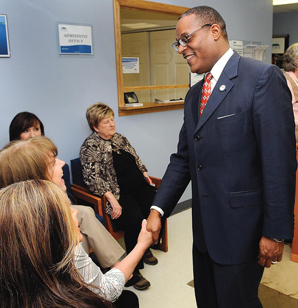 F. BRIAN FERGUSON/THE REGISTER-HERALD=New River Community and Technical College held a reception on Tuesday afternoon to welcome it's new President Dr. L. Marshall Washington.