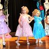 Audryanna Uudy, left, Brooklyn Dickens, Emilee Lilly and Skylee Rogusky, pose during the Spring Cuties Pageant in the 4 year old division held at Woodrow Wilso auditorium.<br /> Rick Barbero/The Register-Herald