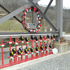 Display of crosses and a wreath on the mine site where 29 miners whose lives were lost at Upper Big Branch on April 5, 2010.<br /> Rick Barbero/The Register-Herald