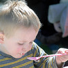 F. BRIAN FERGUSON/THE REGISTER-HERALD=Spencer Baldwin, 2, of Lewisburg enjoys the tastes of the 7th Annual Chocolate Festival.