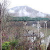 Broyman Construction Corp., started constuction on the new Lilly Bridge. The bridge is being built about 60 feet next to the old bridge close to the Bluestone Dam in Summers Co.<br /> Rick Barbero/The Register-Herald