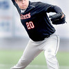 F. BRIAN FERGUSON/THE REGISTER-HERALD= Liberty pitcher Zack Martin deleivers against Valley Fayette during Thursday afternoon action at Linda K. Epling Stadium.
