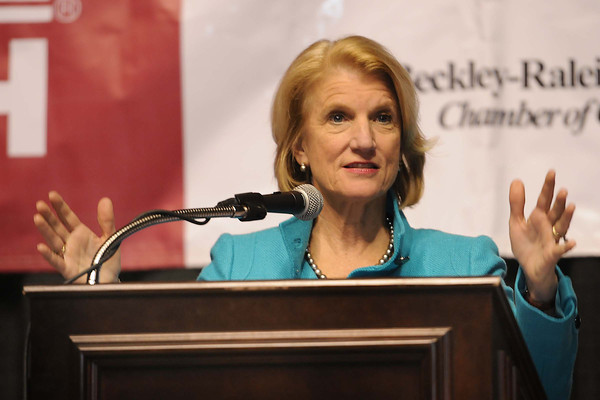 Shelley Moore Capito spoke during Beckley-Raleigh County Chamber of Commerce annual dinner held at the Beckley-Raleigh County Convention Center Friday evening.<br /> Rick Barbero/The Register-Herald