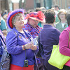 F. BRIAN FERGUSON/THE REGISTER-HERALD=Members of the Red Hat Society were enjoying the sites and tastes on Saturday during the 7th Annual Chocolate Festival.