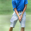 Landon Perry sinks his final putt on #18 on the second day of the WV Amateur Golf Championship at the Greenbrier on Tuesday. F. Brian Ferguson/The Register-Herald