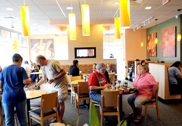 Area residents filed into the new Panera Bread on Eisenhower Drive during Tuesday's Grand Opening. The first 500 customers who purchased a cup of coffee received a free travel mug with coffee refills for two weeks. F. Brian Ferguson/The Register-Herald