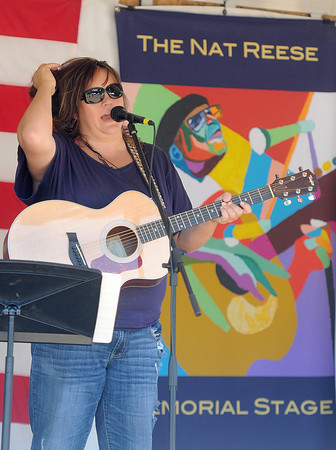Melissa Mckinney, of Princeton took to the stage during Saturday's Simple Jazz and Blues Festival at Sandstone. F. Brian Ferguson/The Register-Herald