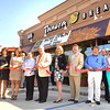 Frances Hemstreet, Leslie Durham, Emily Lutz w/ Panera Bread, Holly Barta w Panera Bread, Mayor Emmett Pugh, Lee Ann Myles, Matt Stanley, Chuck Turner, Chris Leister, Margaret Ann O'Neal and Marti Burleson cut the ribbon at Panera Bread.<br /> Chris Hancock/The Register Herald