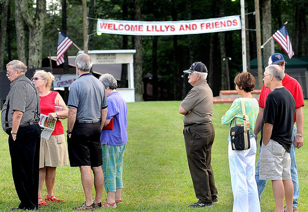 Lilly's from near and far gathered at the Lilly reunion grounds in Flat Top for a large family meal on Friday to kick-off this weekends Lilly Family Reunion. F. Brian Ferguson/The Register-Herald