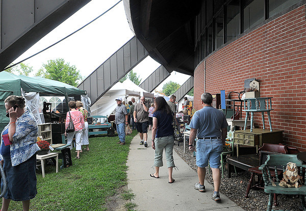 Vendors set up shop both inside and out during Friday's Appalachian Arts and Crafts festival at the Raleigh County Convention Center. F. Brian Ferguson