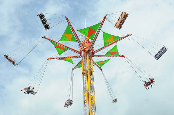 Swing ride at the West Virginia State in Fairlea.<br /> Rick Barbero/The Register-herald