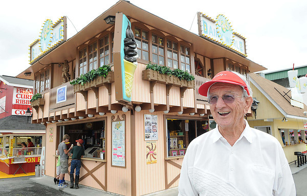 Dave Hlay, owner of Trudy's Dairy World at the West Virginia State in Fairlea.<br /> Rick Barbero/The Register-herald
