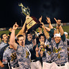 WV Miners team hold uo the trophy after winning the Championship game against the Quincy Gems.<br /> Rick Barbero/The Register-Herald