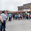 Area residents stood in line to be among the first to visit the new Panera Bread on Eisenhower Drive during Tuesday's Grand Opening. The first 500 customers who purchased a cup of coffee received a free travel mug with coffee refills for two weeks. F. Brian Ferguson/The Register-Herald