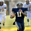 Greenbrier West QB Mark Boarwright runs for a long touchdown in the first quarter of Saturday's game in Fairlea, against Magnolia, to determine which team will play for the State A Football Championship next weekend in Wheeling.. F. Brian Ferguson/The Register-Herald