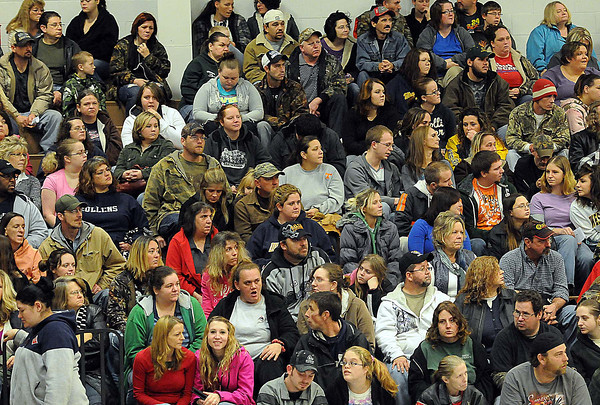 Wyoming County residents filled the gym on Sunday during the Wyoming County Toy Fund at Wyoming East High School. F. Brian Ferguson/The Register-Herald