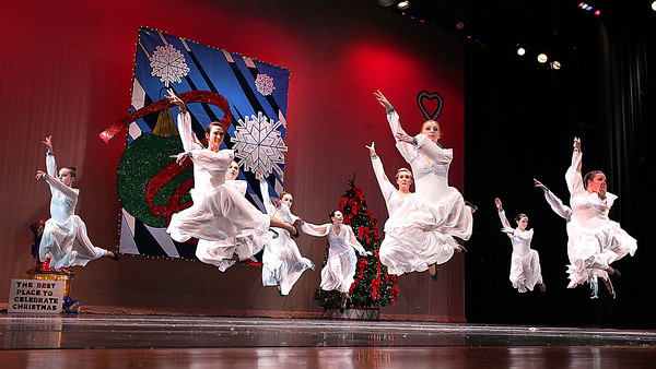 "Dancers perform during ""The Best Place to Celebrate Christmas"" presented by Karen's Academy of Dance Saturday night at the Woodrow Wilson Auditorium.<br /> Brad Davis/The Register-Herald"