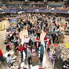 Thousands gathered at the Beckley-Raleigh County Convention Center Saturday morning for Mac's Toy Party, where parents and children from all over the area picked out what they wanted for Christmas.<br /> Brad Davis/The Register-Herald