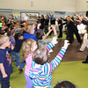 Students at Rosedale Elementary danced in celebration Wednesday morning after learning the school won $25,000 as part of the 2013 U.S. Cellular Calling All Communities campaign. Only 20 schools in the nation were chosen as U.S. Cellular's 2013 champions, and Rosedale squeaked into the top 20 to fill the No. 19 spot. <br /> Photo by Brandi Underwood/The Register-Herald