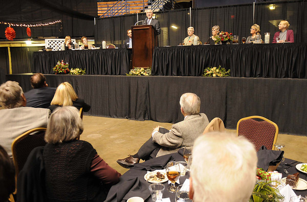 YMCA of Southern West Virginia honored Jerry and Sherry Rose Monday night at the Beckley-Raleigh County Convention Center and presented them with the Spirit of Beckley Community Service Award.<br /> Rick Barbero/The Register-Herald