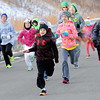 Youths and parents battled freezing conditions to take part in the YMCA Thanksgiving Day Fun-Run on Saturday at the YMCA Paul Cline Memorial Youth Sports Complex. F. Brian Ferguson/The Register-Herald