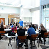 F. BRIAN FERGUSON/THE REGISTER-HERALD=Students take part in Sunday's College Goal at the Erma Byrd Center.