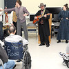 F. BRIAN FERGUSON/THE REGISTER-HERALD= Veterans take in the sights and sounds of TWV as cast members played songs from their famous outdoor drama on Thursday afternoon at the Beckley VA.