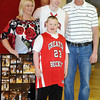 Mullins family during senior day at Greater Beckley on Saturday. Photo By Chris Tilley