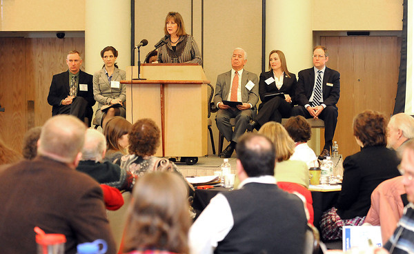 Jane Vincent, region 3 administrator U.S. Department of Housing and Urban Development, speaks during the Blueprint Summit held at Tamarack Conference Center. <br /> Rick Barbero/The Register-Herald