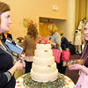 Tammy L. Jordan, President of Fruits of Labor. Inc. talks with Anna Ankrum during The Bridal Prom and Special Occasions Show brunch at Tamarack on Saturday. Photo by Chris Tilley