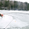 Wayne Thompson, of Crab Orchard does some ice fishing at Little Beaver State Park on Tuesday. Photo by Chris Tilley