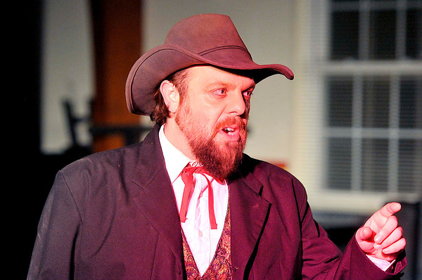 "Lew Whitener playing Harmon Cantrell during the TWV shortened ""Honey "" Tuesday night at the TWV stage in Mabscott. Photo by Chris Tilley"